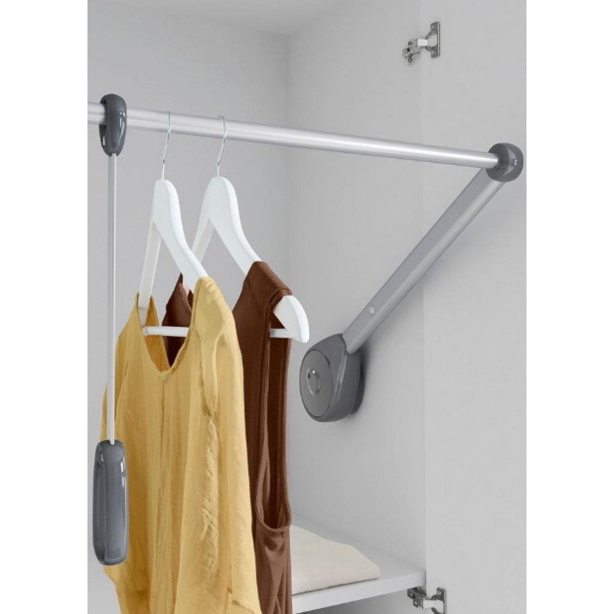 AMBROGIO Пантограф - лифт одежды в проем 500-750 мм, нагр.14 кг. цвет серый; Производитель: VIBO ИТАЛИЯ