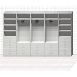 Прямая классическая гардеробная комната №33
