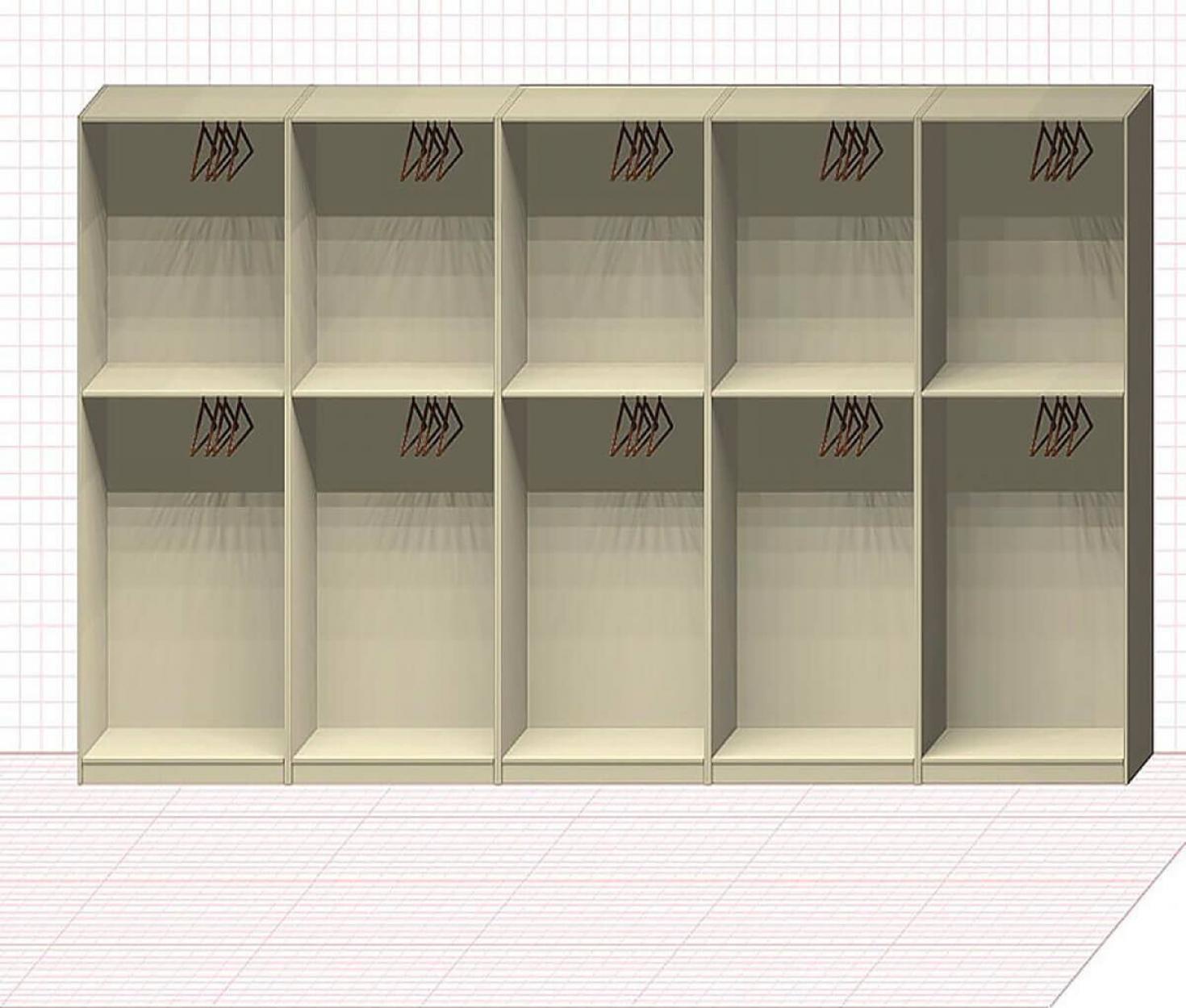 Прямая классическая гардеробная комната №30