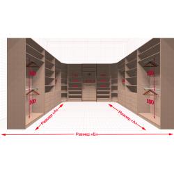 Угловая классическая гардеробная №U3x3-a