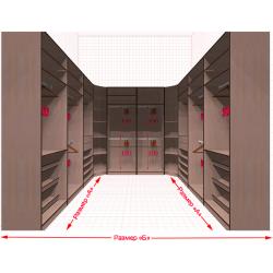 Угловая классическая гардеробная №U3x2-e