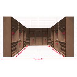 Угловая классическая гардеробная №U3x3-aa