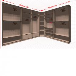 Угловая классическая гардеробная №L3x2-a