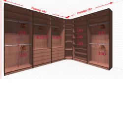 Угловая классическая гардеробная №L3x2-c