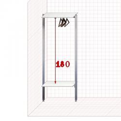 Прямая Гардеробная №П01 Открытая гардеробная система