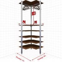 Угловая Гардеробная №0-3 Открытая гардеробная система