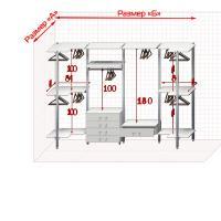Угловая Гардеробная №U-3  Открытая гардеробная система