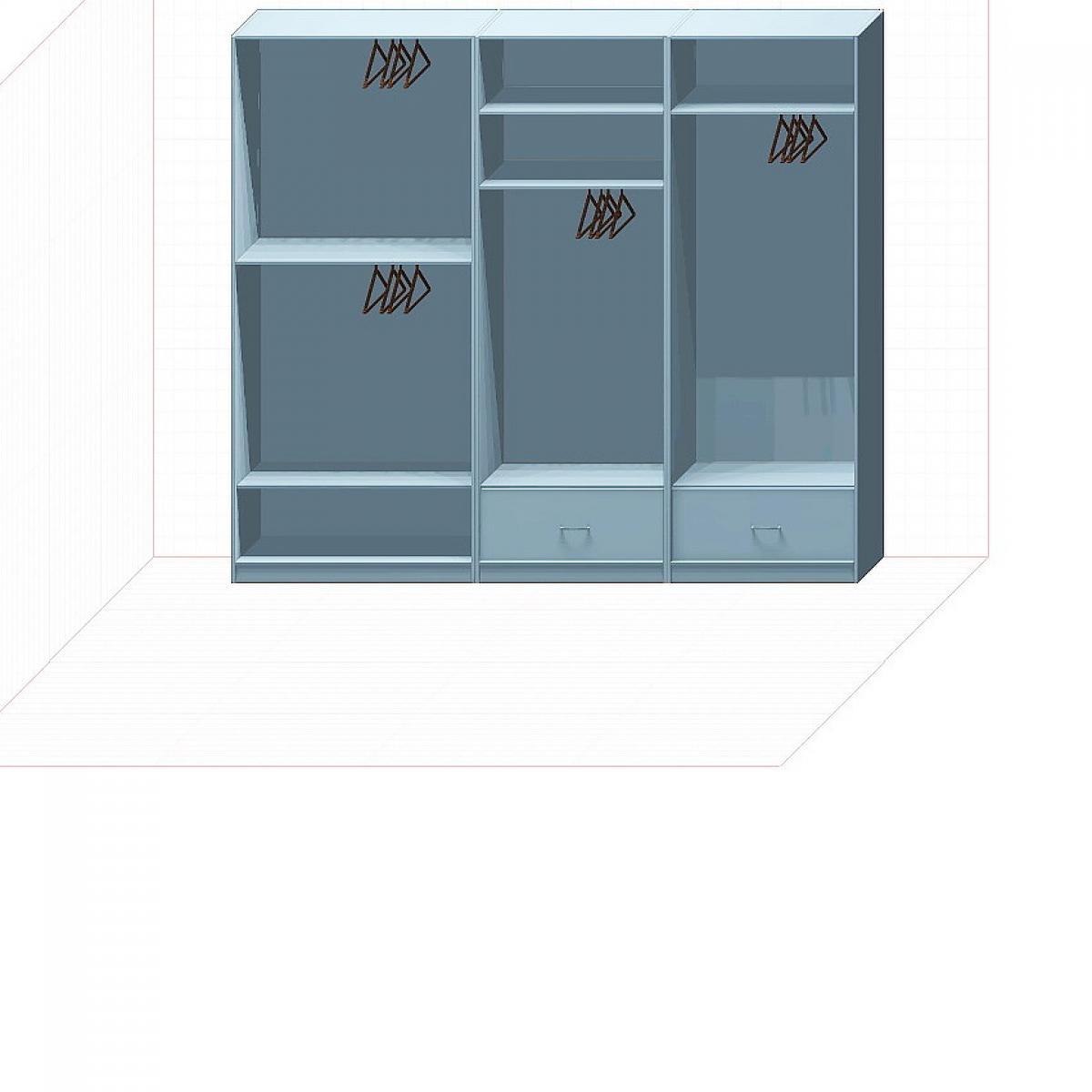 Прямая классическая гардеробная комната №1