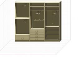 Прямая классическая гардеробная комната №10