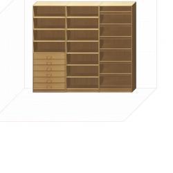Прямая классическая гардеробная комната №11