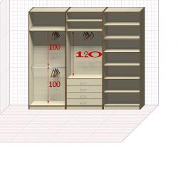 Прямая классическая гардеробная комната №6