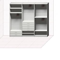 Прямая классическая гардеробная комната №8