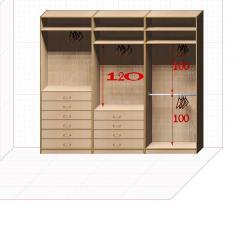 Прямая классическая гардеробная комната №9