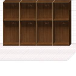 Прямая классическая гардеробная комната №20
