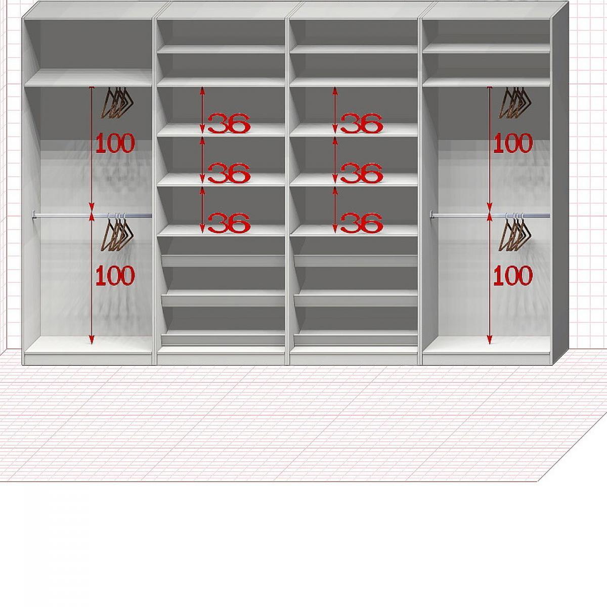 Прямая классическая гардеробная комната №21