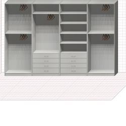 Прямая классическая гардеробная комната №22