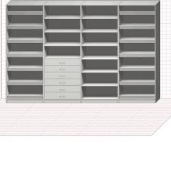 Прямая классическая гардеробная комната №25