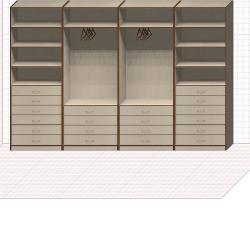 Прямая классическая гардеробная комната №26