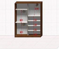 Шкаф гардеробный №23-8-00
