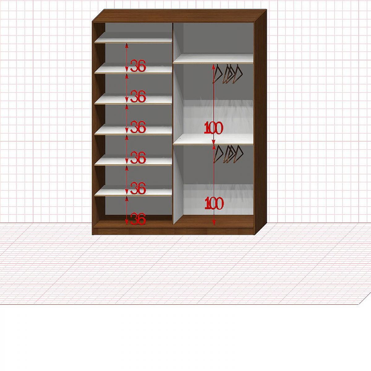 Шкаф гардеробный №23-9-50