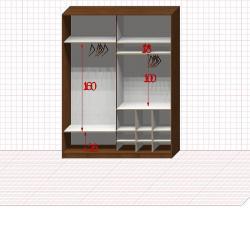 Шкаф гардеробный №24-4-00