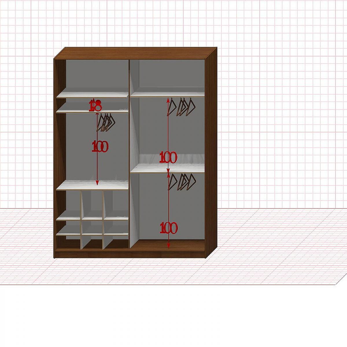 Шкаф гардеробный №25-1-00