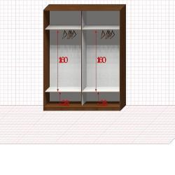 Шкаф гардеробный №26-7-00