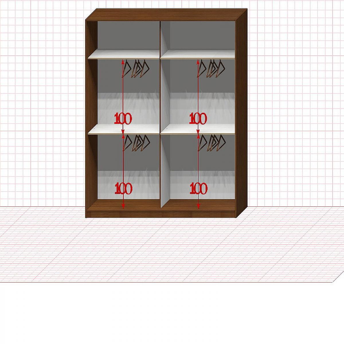 Шкаф гардеробный №28-2-00