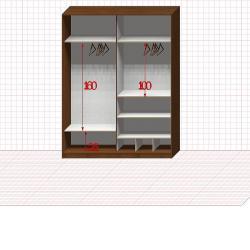Шкаф гардеробный №28-8-00