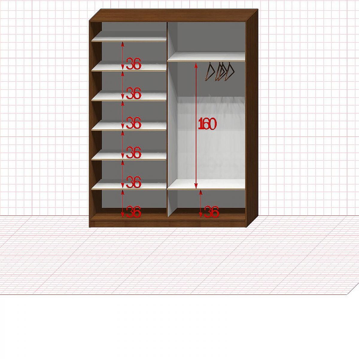 Шкаф гардеробный №29-1-00