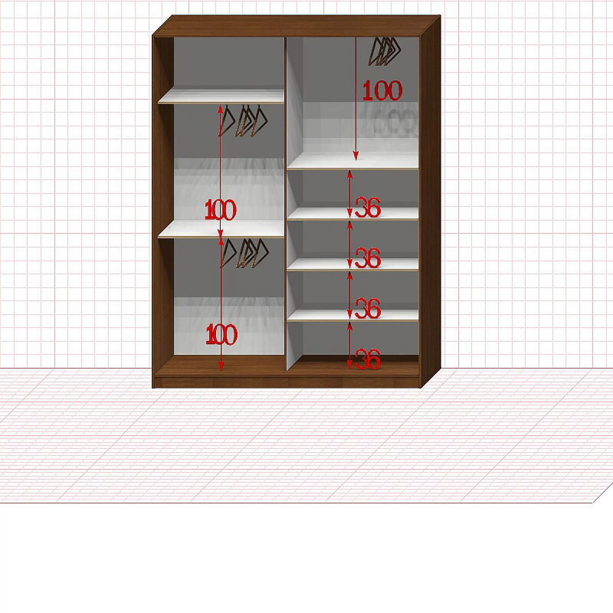 Шкаф гардеробный №29-4-00