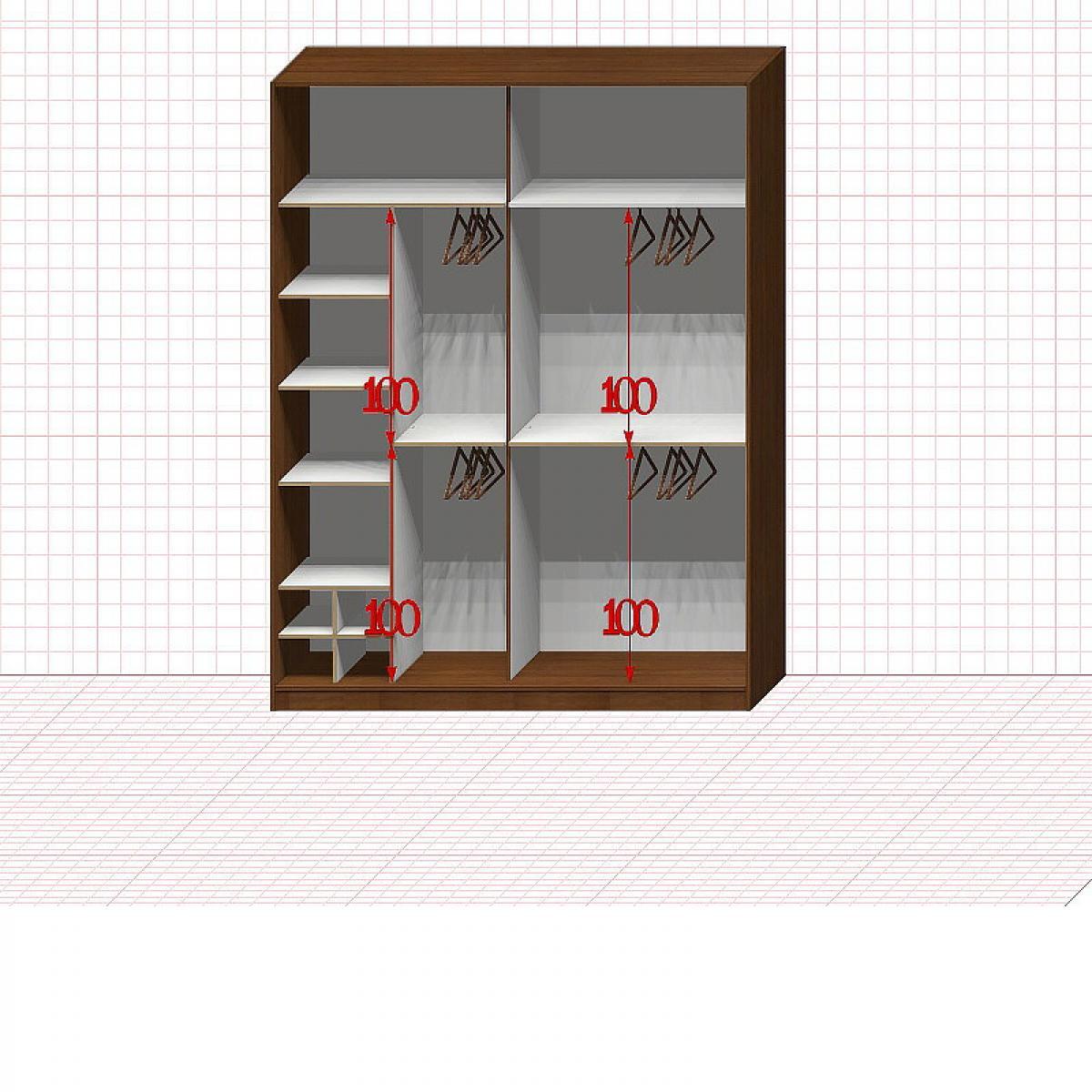 Шкаф гардеробный №32-4-00