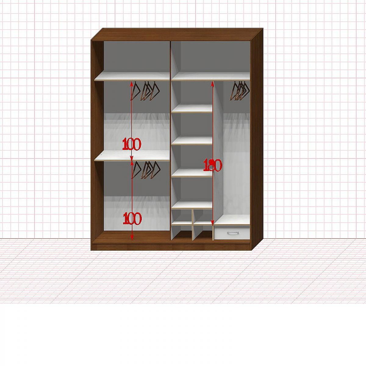 Шкаф гардеробный №32-6-00