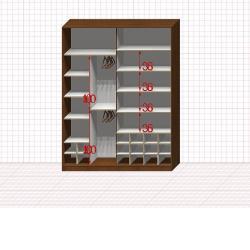 Шкаф гардеробный №36-0-00