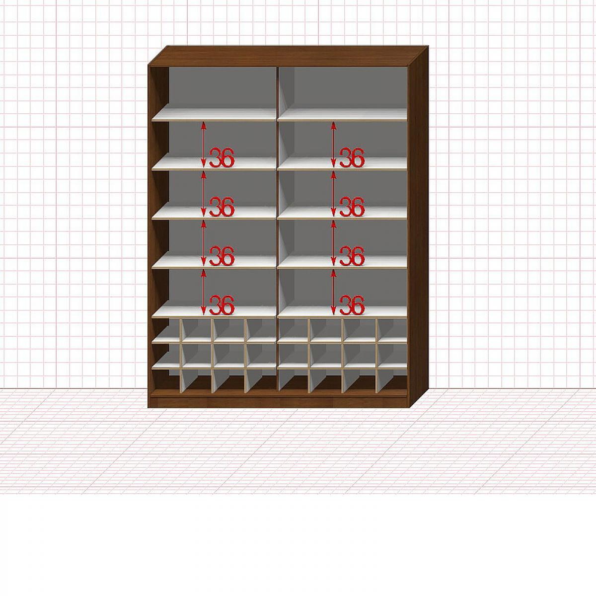Шкаф гардеробный №36-2-00