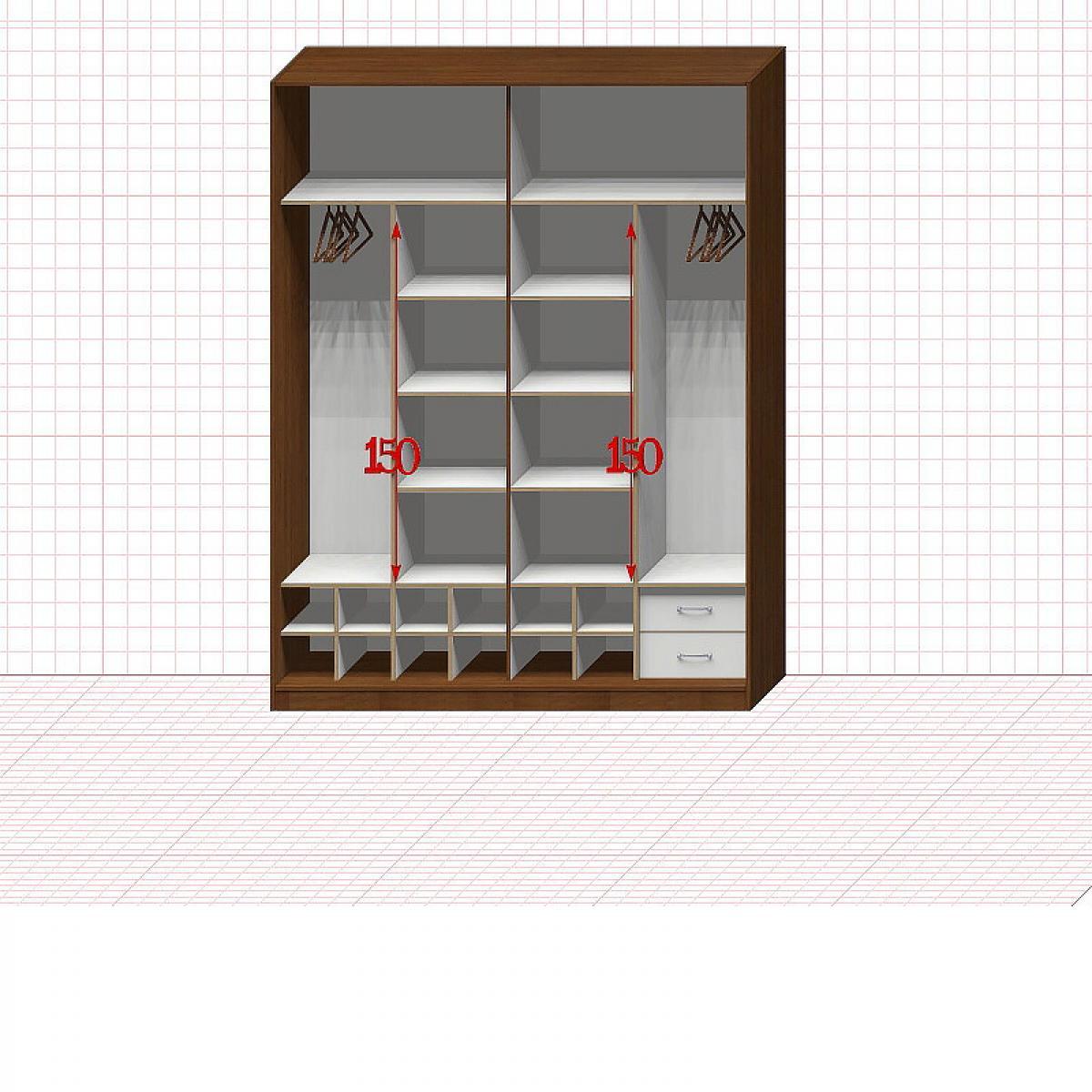 Шкаф гардеробный №37-5-00