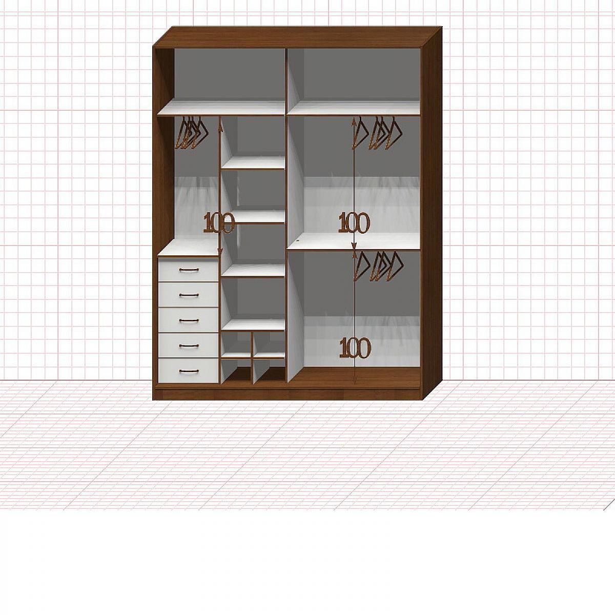 Шкаф гардеробный №37-6-00