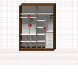 Шкаф гардеробный №40-8-00