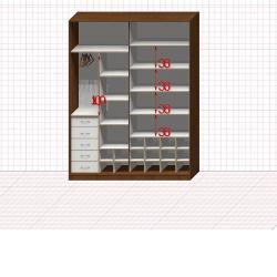 Шкаф гардеробный №41-7-00