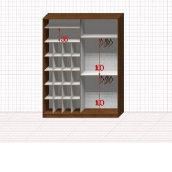 Шкаф гардеробный №43-5-00