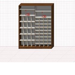 Шкаф гардеробный №44-0-00