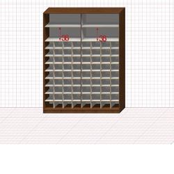 Шкаф гардеробный №46-7-00