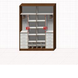 Шкаф гардеробный №47-3-00