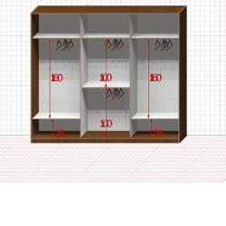 Шкаф гардеробный №30-7-50