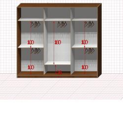Шкаф гардеробный №31-6-00