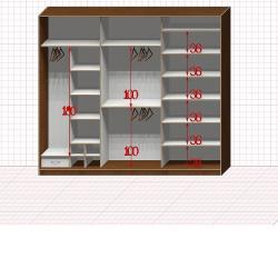 Шкаф гардеробный №35-1-00