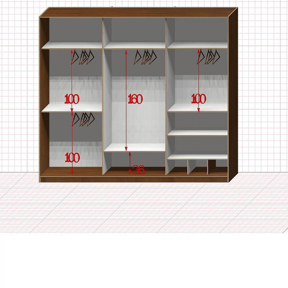 Шкаф гардеробный №40800