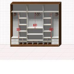 Шкаф гардеробный №40-9-00