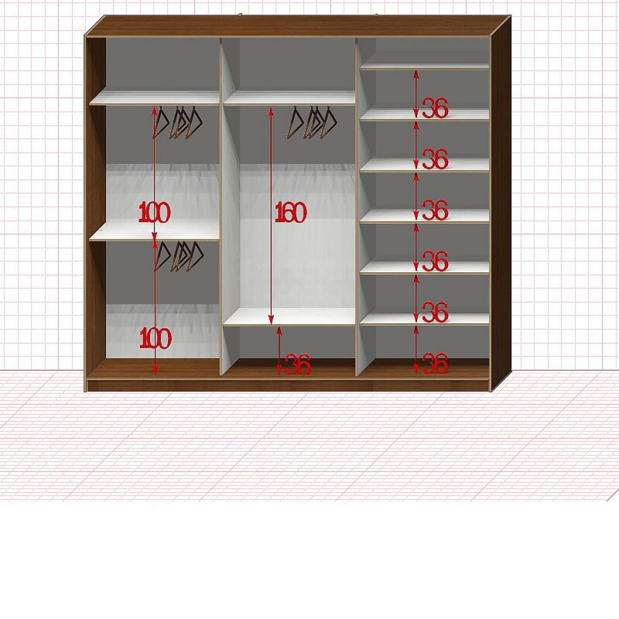Шкаф гардеробный №41-3-00