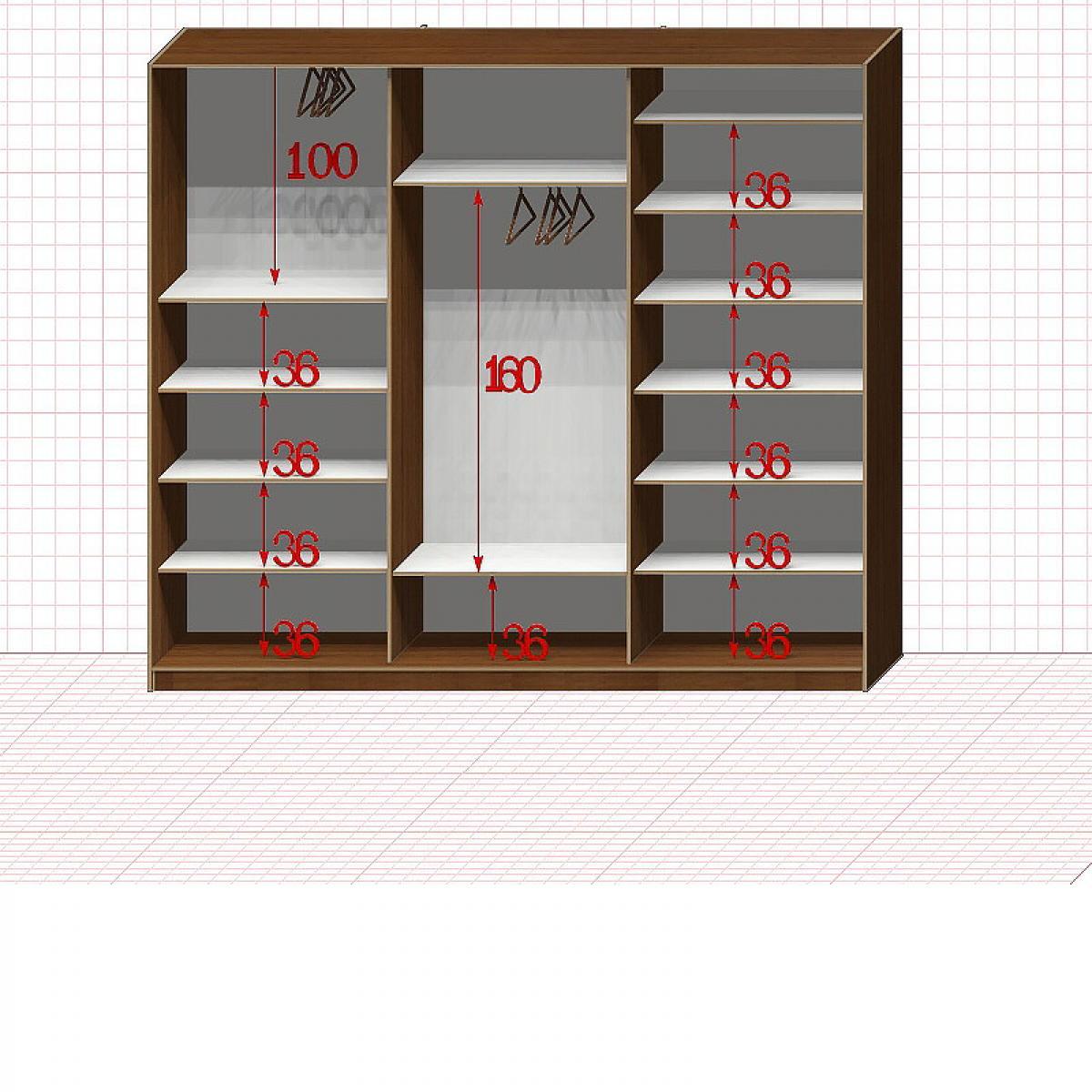 Шкаф гардеробный №42-1-00
